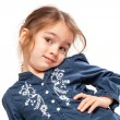 Little Girl with Funny Expression — Stock Photo