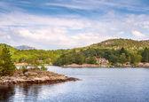 Norwegian Houses in the North Sea — Stock Photo