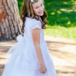 Girl in her First Communion Day — Stock Photo #43332955