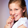 Girl in her First Communion Day — Stock Photo #43335669