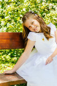 Girl in her First Communion Day — Stock fotografie