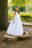 Girl in her First Communion Day — Foto de Stock
