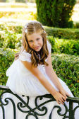 Girl in her First Communion Day — Stok fotoğraf