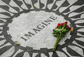 Strawberry Fields, the John Lennon Memorial — Stock Photo