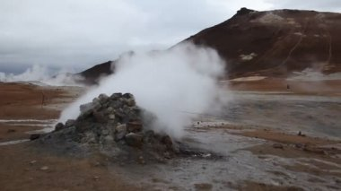 Geyser of steam — Stock Video