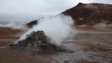 Geyser of steam — Stock Video