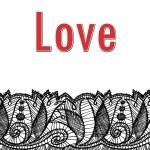 diseño de tarjeta corazón de San Valentín — Foto de Stock