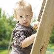 Little boy playing at the playground — Stock Photo