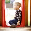 Ittle boy playing at the playground — Stock Photo