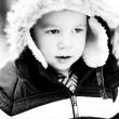 Little boy at winter — Stock Photo