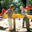 Little boys playing at the playground — Stock Photo