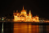 Parliament building at night, Budapest — Stock Photo