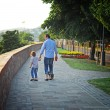 Man with son walking and holding hands — Stock Photo #38687153