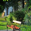 Park bench in sunset — Stock Photo #38687181