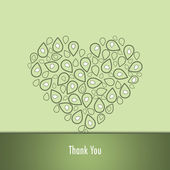 Thank you card — Stock Photo
