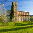 Sant Antimo Abbey near Montalcino, Tuscany, Italy — Stock Photo