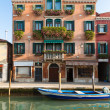 Stock Photo: Palazzo with flowers, Venice, Italy