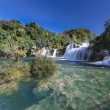 Waterfall (Skradinski buk) in Krka National Park, Croatia — Stock Photo