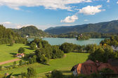Lake Bled at a sunny day, Slovenia — Stock Photo