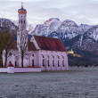 St. Coloman church in the morning, Alps, Bavaria, Germany — Stock Photo #41781829