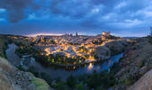 Panoramic view of Toledo after sunset, Spain — Stock Photo