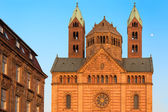 Speyer Cathedral with blue skies, Germany — Stock Photo