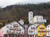 Historic buildings in Hallstatt, Salzkammergut, Austrian Alps — Stock Photo