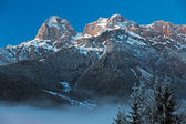 "Mountain Range ""Steinernes Meer"" in Alps at Dawn, Austria — Stock Photo"