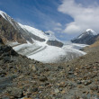 Mountain landscape. Glacier Big Actru. Mountain Altai. — Stock Photo