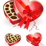 Chocoalte in Heart Box — Stock Vector #6029677