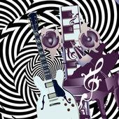 音楽のテーマ — ストックベクタ