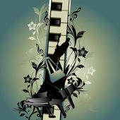 Musiktema — Stockvektor