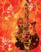 музыкальная тема — Cтоковый вектор