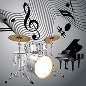 Muzyka tematu — Wektor stockowy