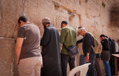 Prayers at Wailing Wall in Jerusalem — Stock Photo