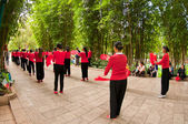 Dancing Chinese Women — Stock Photo