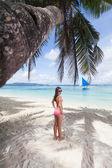 Woman posing on the beach — Stock Photo