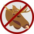 Hunting for an elk - Stock Vector