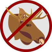 Hunting for an elk — Stock Vector
