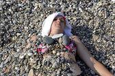 The girl on a beach — Stock Photo