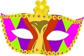 Máscara de maskaradny — Vector de stock