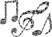 Müzik notaları — Stok Vektör
