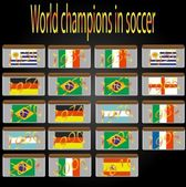 World champions in soccer — Vector de stock