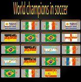 Campeones del mundo en futbol — Vector de stock