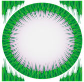 Frame from a green grass — Stock Vector