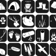 Icons for hunting — Vector de stock #24925743