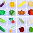Icons with vegetables — Stock Vector