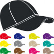 Stock Vector: Man's cap