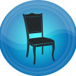 Stock Vector: Button with chair image