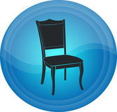 The button with the chair image — Vetorial Stock